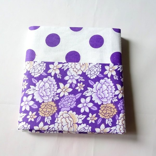 Half Yard Bundle Floral Polkadot - PURPLE