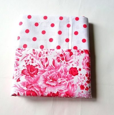 Half Yard Bundle Pink Flower and Polkadots
