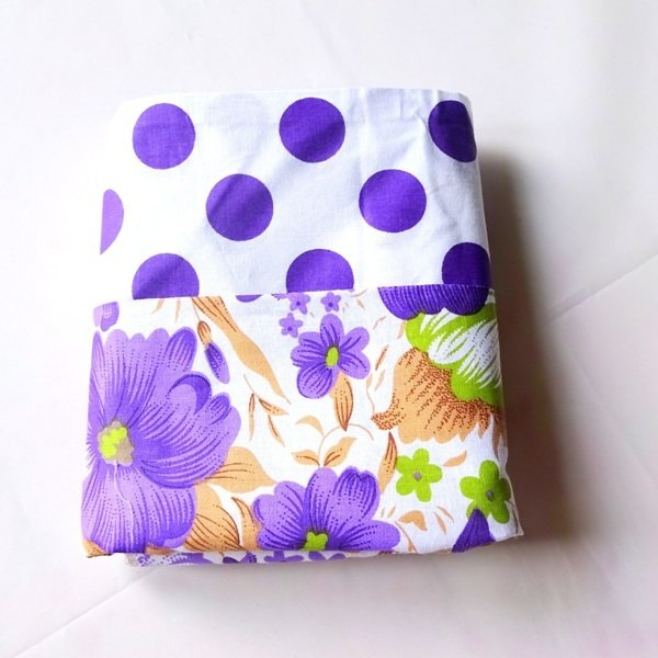 Half Yard Bundle Purple  Flower and Polkadots