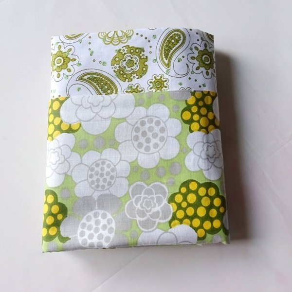 Half Yard Bundle Green Floral and Paisley