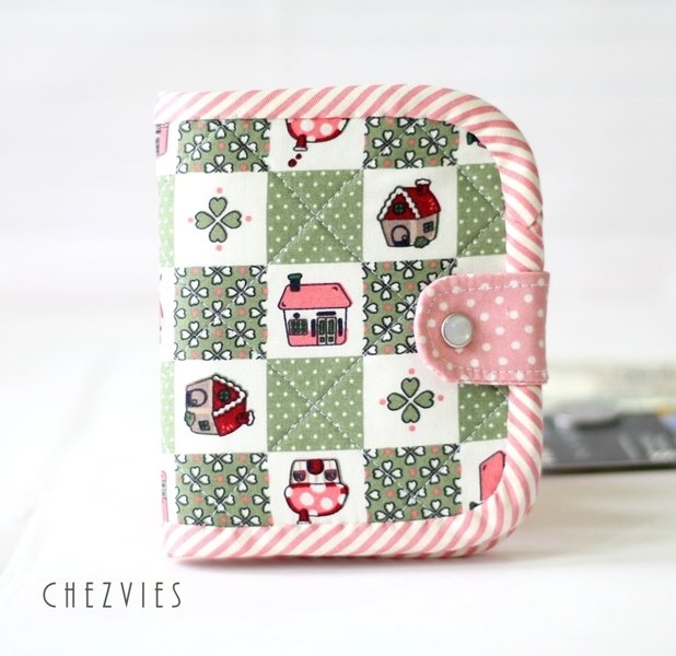 Green  Bifold Wallet, Handmade Wallet, Girls Wallet, Mushroom House