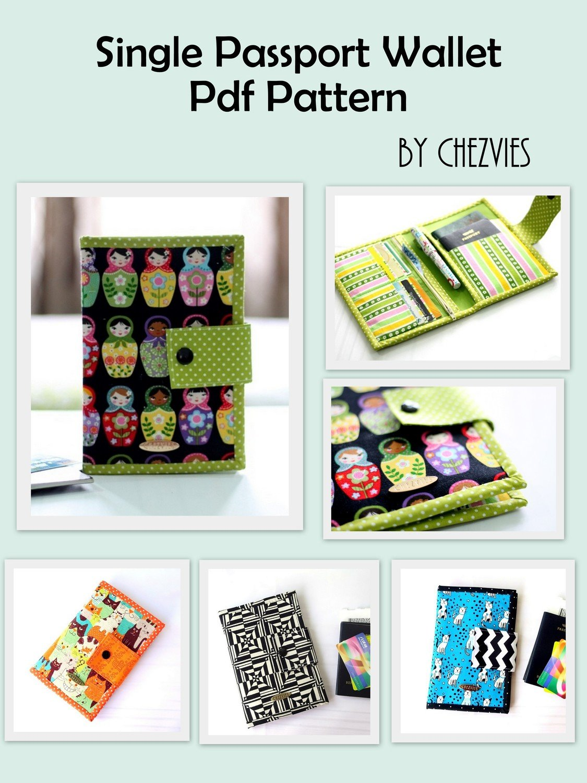 Pdf Pattern Small Travel Wallet