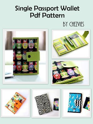 Single Passport Holder with Card Slot, Small Travel Wallet, Pdf Sewing Pattern