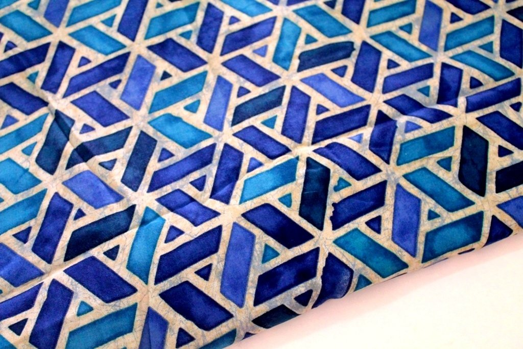 Geometric Indigo Blue Modal Cotton