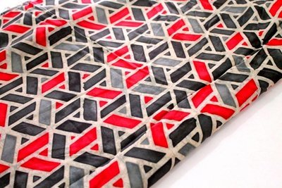 Modal Cotton Geometric Grey and Red