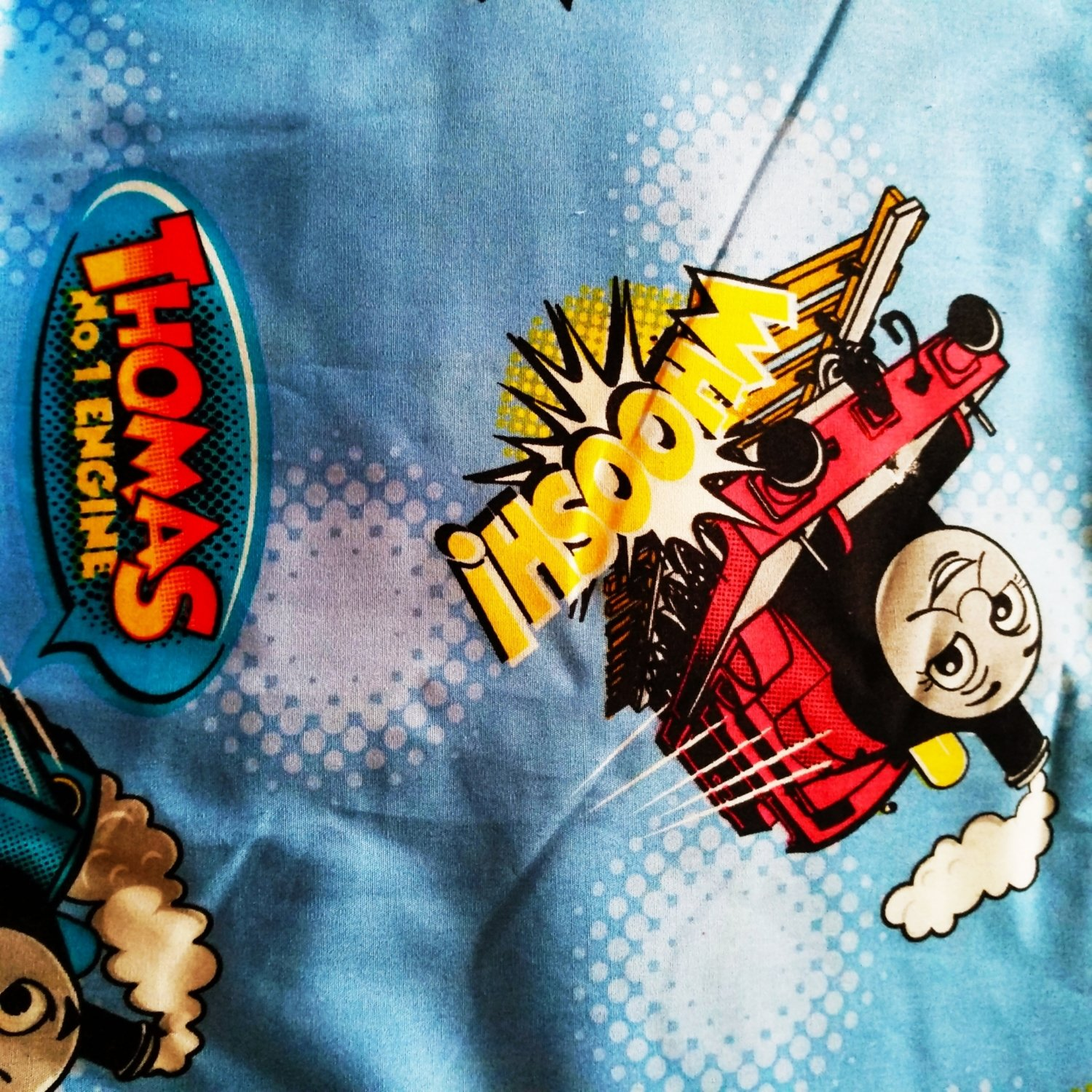 "Reserved for Kausalya - Thomas train - Wide cotton 58"" wide"