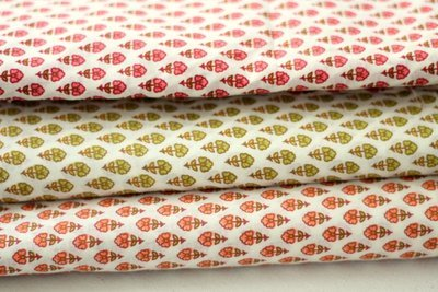 Small Floral summer print cotton fabric - 3 colors available