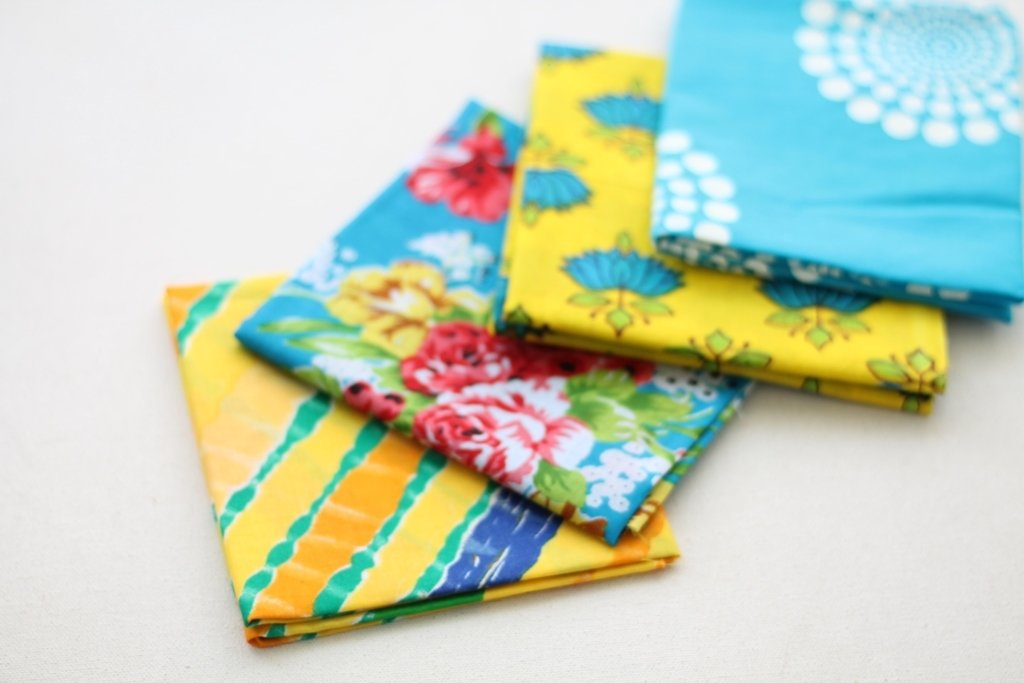 Blue Yellow Fat Quarter Bundle