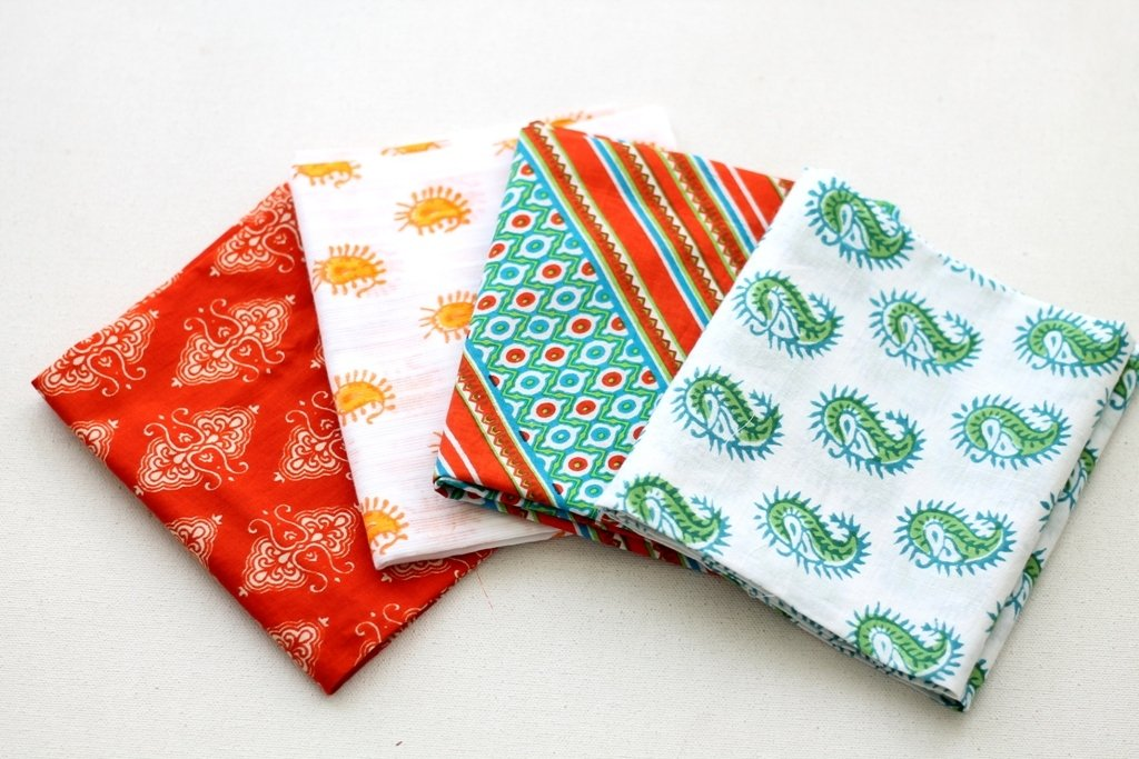 Orange green Fat Quarter Bundle