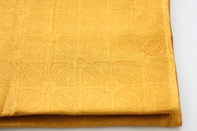 Mustard Yellow self print tone on tones cotton dress material