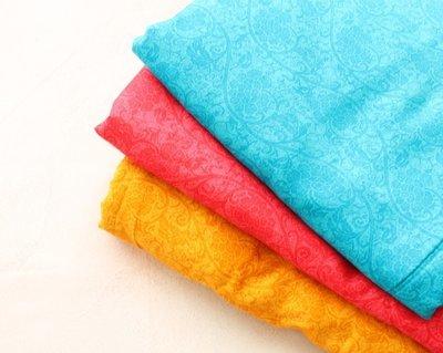 Tone on Tones Self printed glace cotton fabric