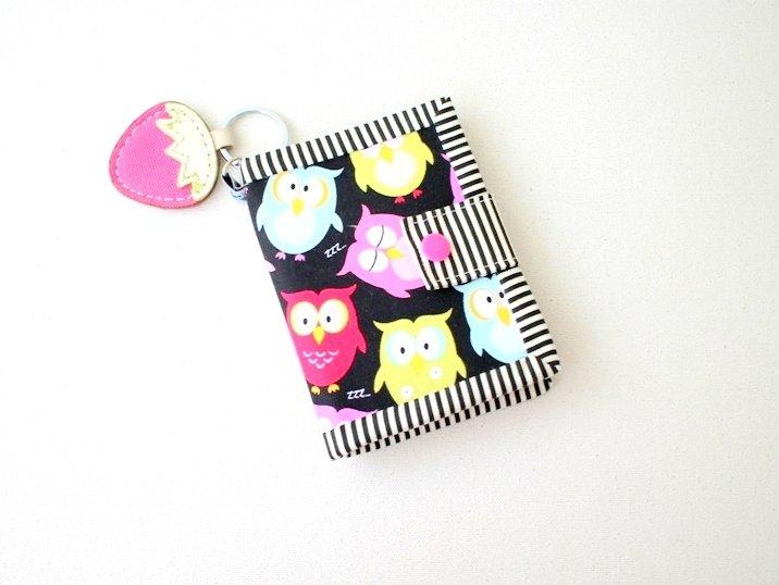 Cute Owl Handmade Bifold Wallet, Small Bifold Wallet