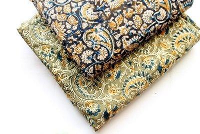 Paisley Fabric, Kalamkari block print, Kalamkari fabric, hand print cotton, Indian Fabric, Indian Mud cloth, Mudcloth Cotton