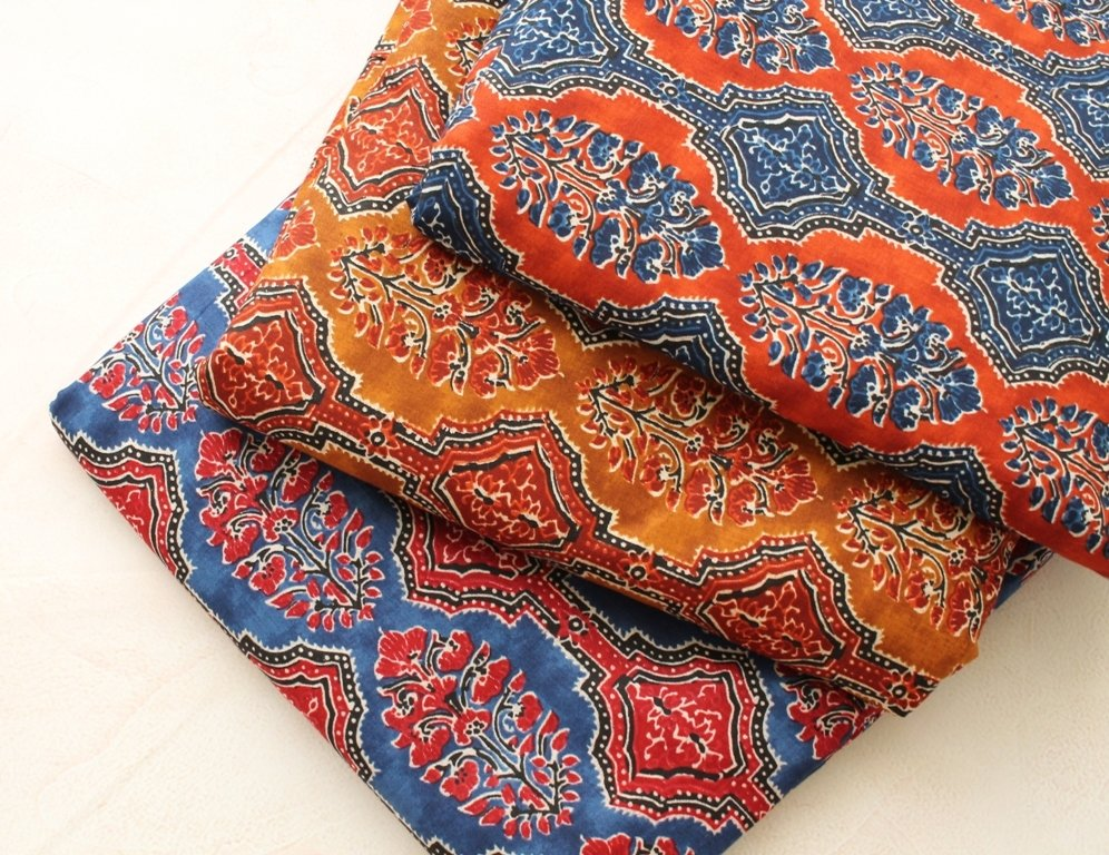Kalamkari block print in 3 colorways