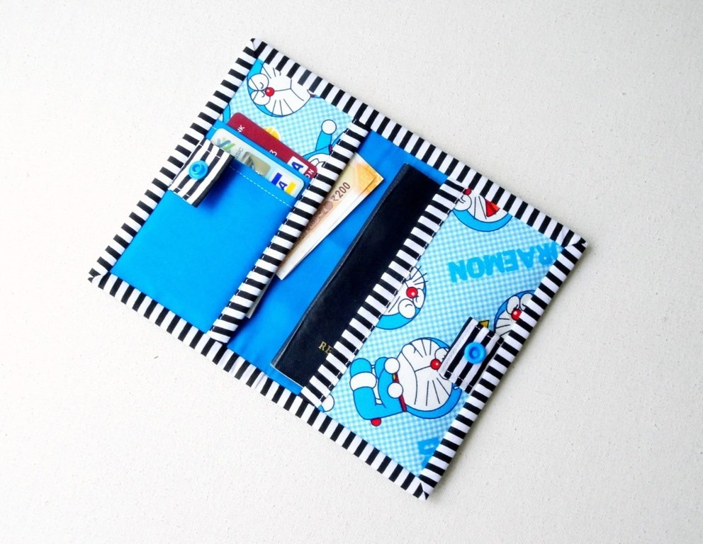 Doraemon Passport Cover Card Holder, Passport Sleeve with Card Slot