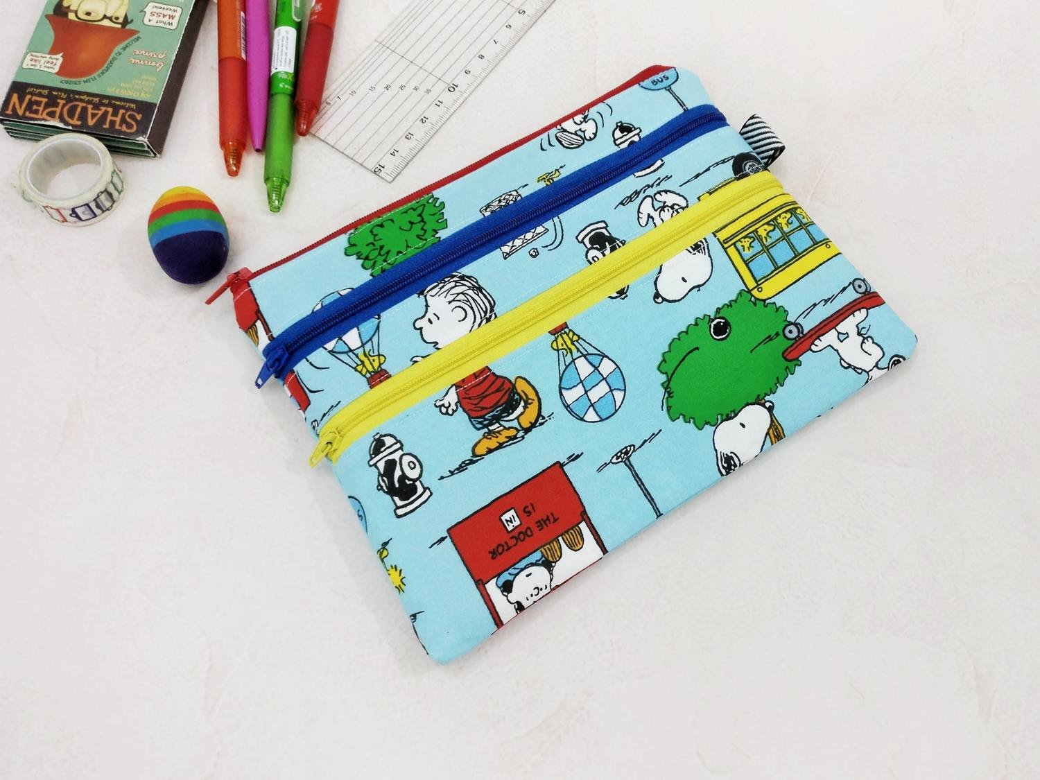 Snoopy Pouch, pencil case, school supplies