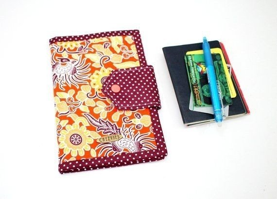 Floral Travel Wallet, Passport Holder with Card Slot and zipper Pocket