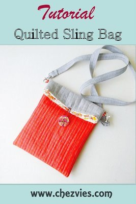 Quilted Sling Bag - Free Tutorial