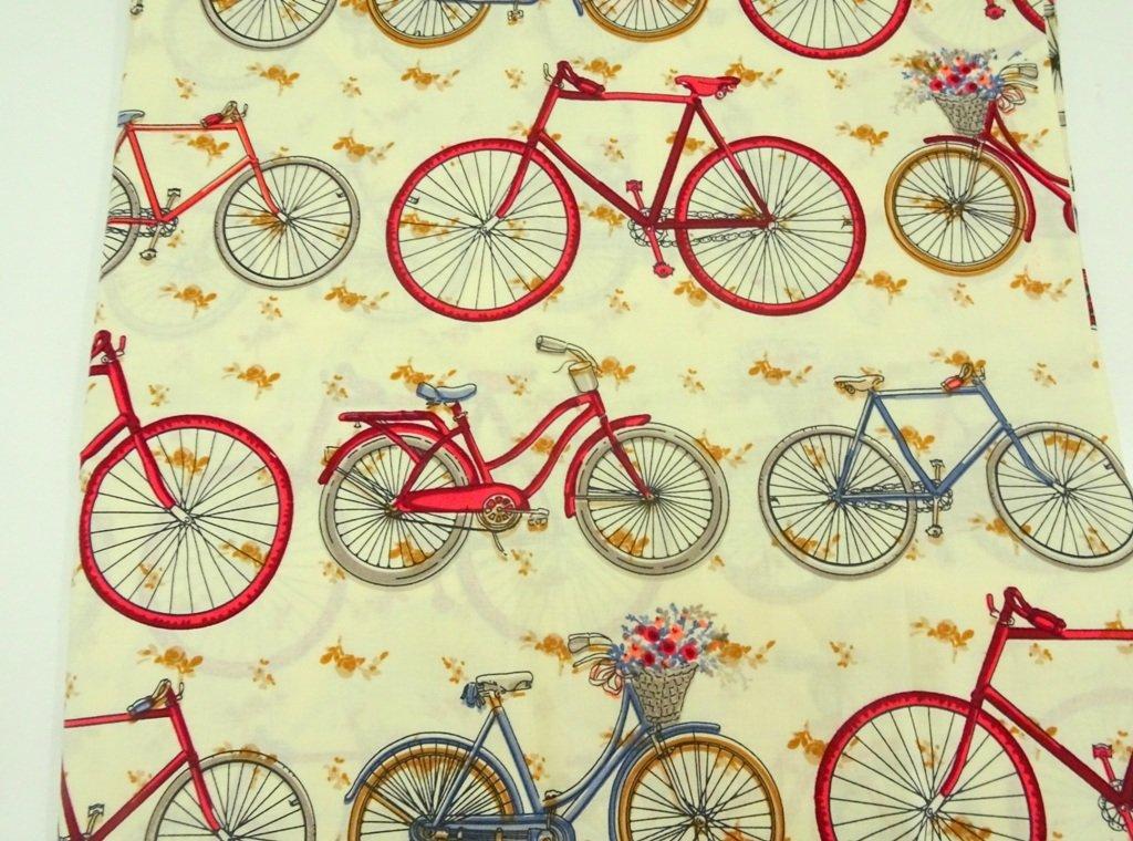 Bicycle print - sold by half meter