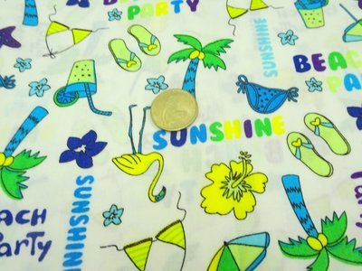 Summer Beach Theme- sold by half meter