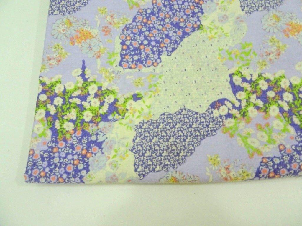 Patchwork Print Purple- sold by half meter