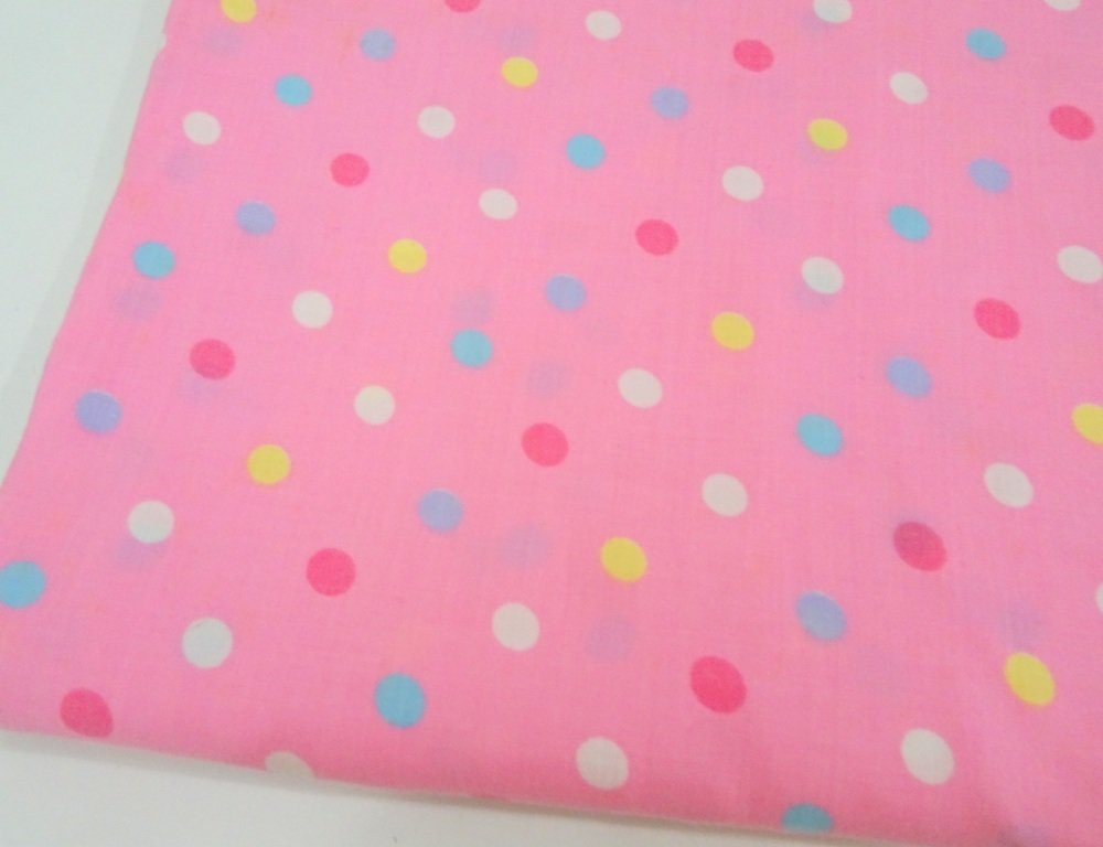 Lizzy bizzy Pink Polkadot Cotton Mix