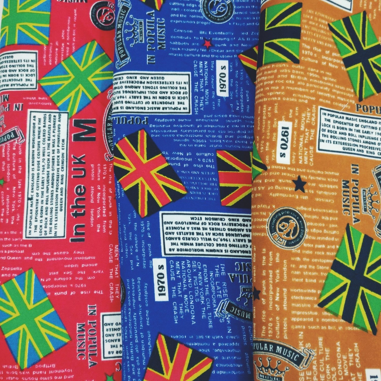 Magazine Print, Music in the UK, UK flags, sold my half meter