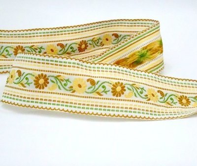 Destash - 2 Meters Embroidered Ribbon
