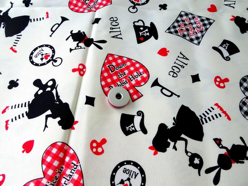 Alice in Wonderland Japan Cotton Linen  - Sold by Fat Quarter