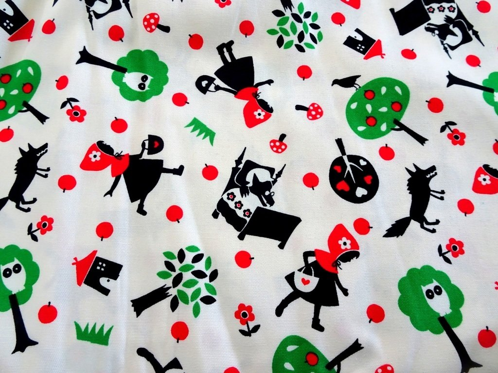 Red Riding Hood Japan Cotton Linen  - Sold by Fat Quarter