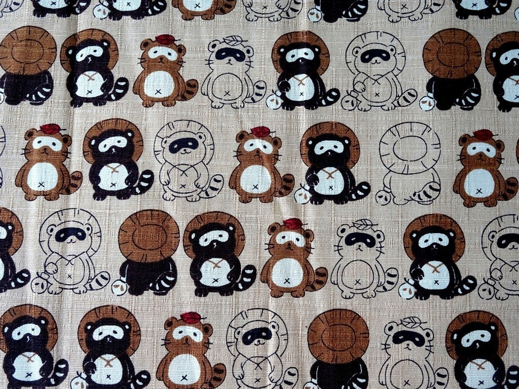 Light Brown Panda Japan Linen  - Sold by Fat Quarter