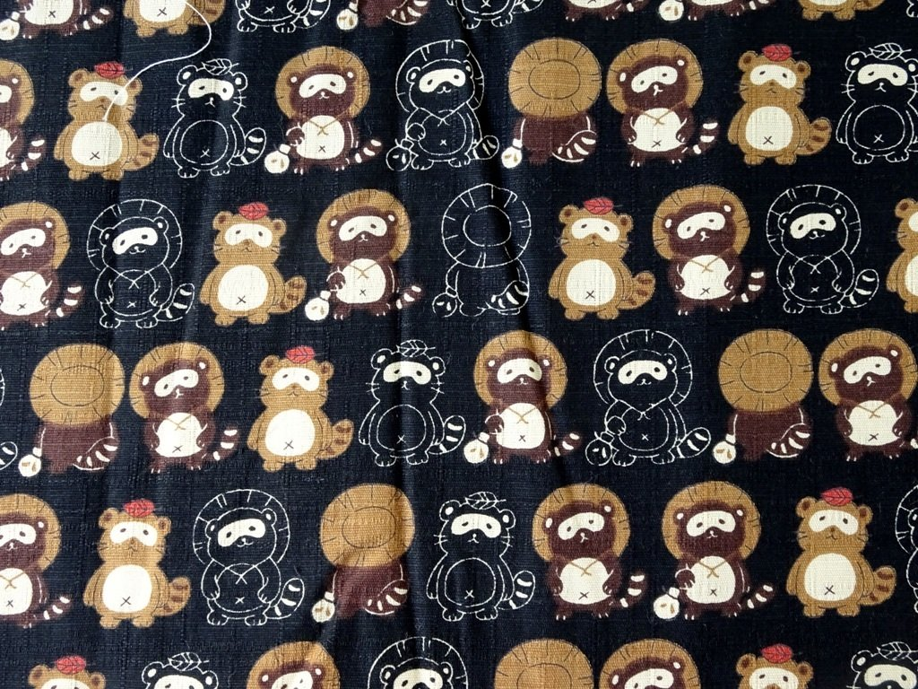 Black Panda Japan Linen  - Sold by Fat Quarter