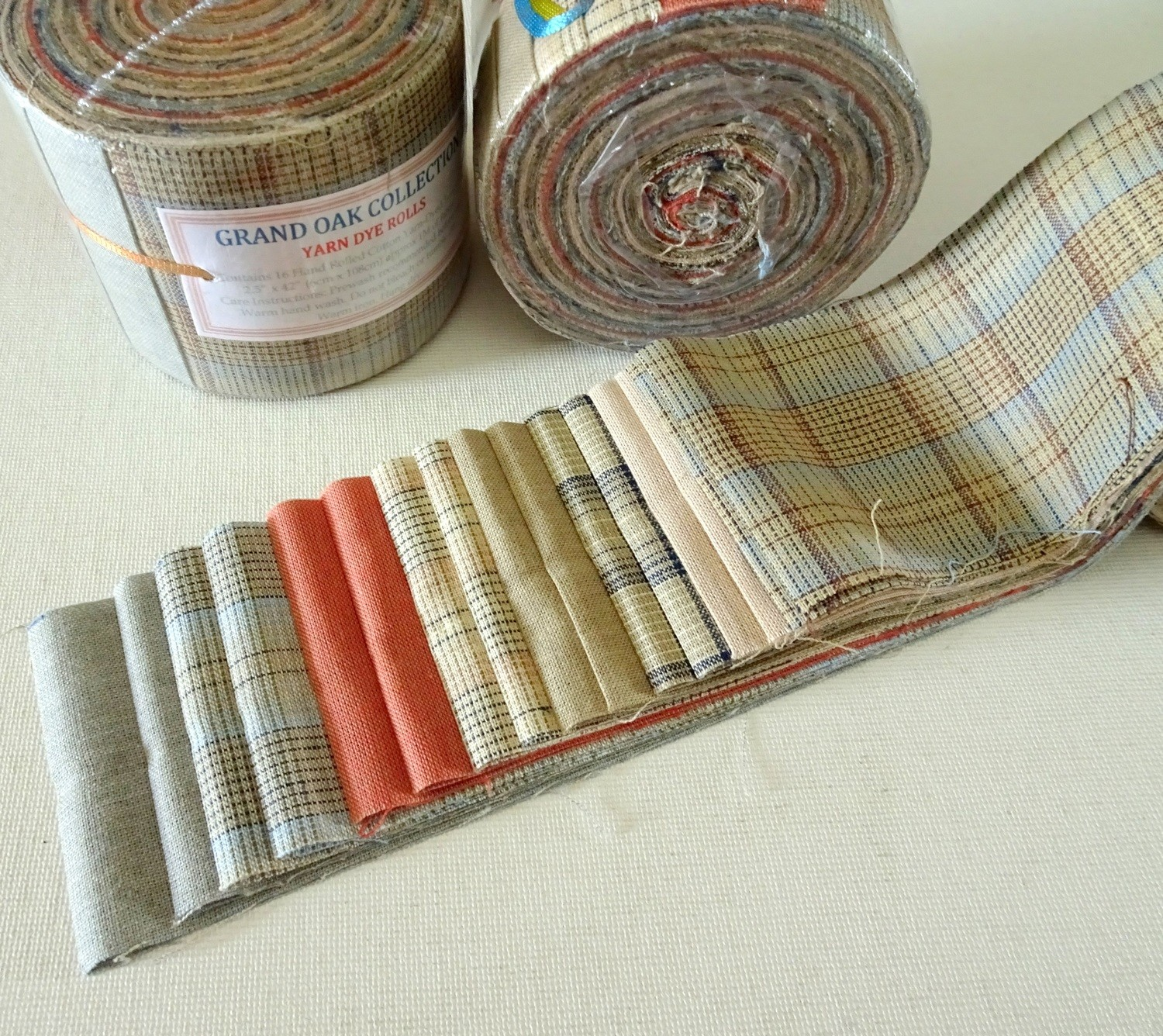 "Grand Oak Yard Dye Roll - Jelly Roll Fabric Rolls (2.5""x 42"") - imported"