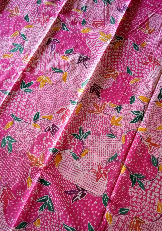 Pink Hand drawn Indonesian Batik - 2 meter piece