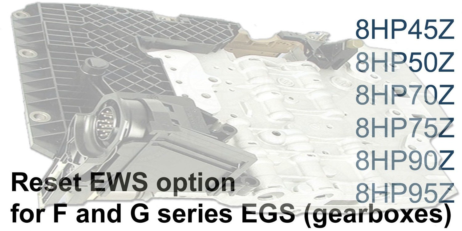 Module reset EWS option for F and G series EGS 8HP