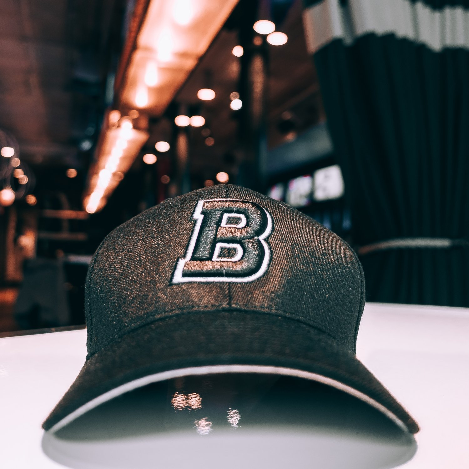 "Bounce ""B"" Fitted Hat - Black & White"