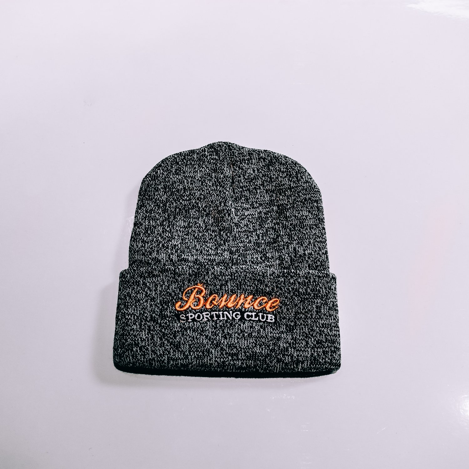 Embroidered Marquee Bounce Beanie - Gray & Gold