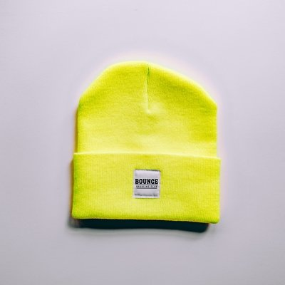 Bounce Patchwork Beanie - Neon Yellow