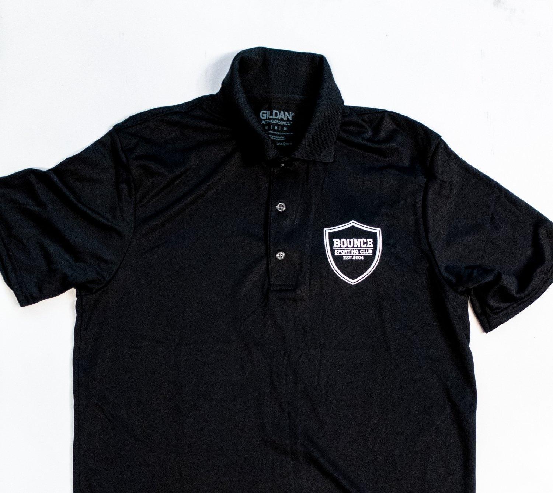 Bounce Crest Polo - Black