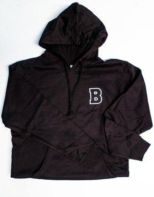 Bounce Varsity Hoodie - Black & White