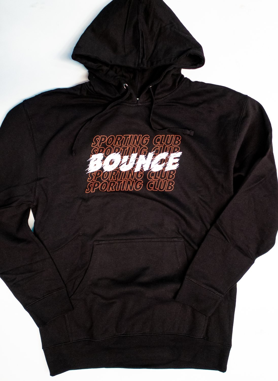 Bounce Graphic Hoodie - Red, Black & White