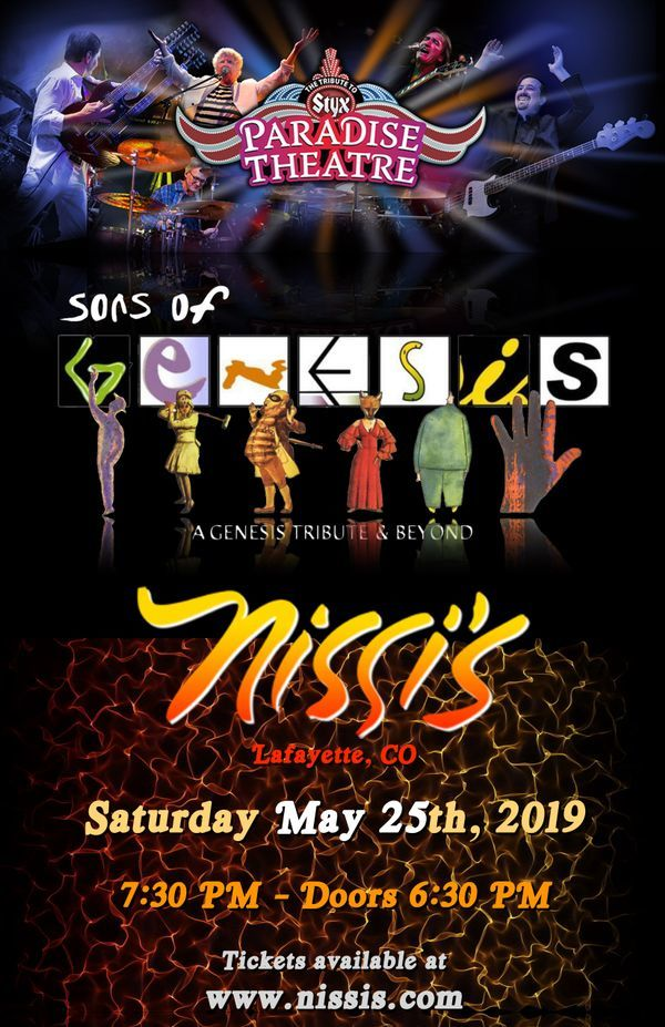 Sons of Genesis & Paradise Theater – May 25 2019 – 7:30pm 01385