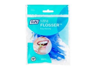 TePe mini flosă cu mâner-ața dentară