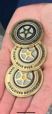 Slow Down Move Over Challenge Coins!