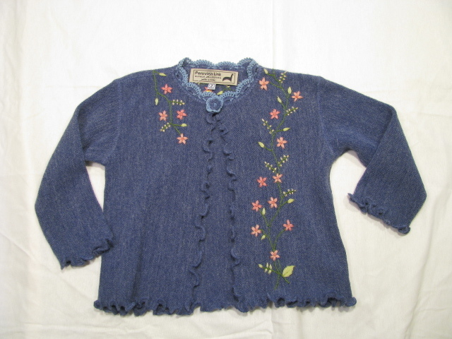 Kids Cardigan, with hand embroidery