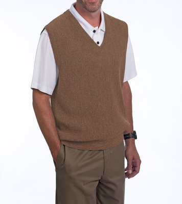 Alpaca Golf V-Neck Sweater Vest