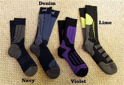 Fun Outdoor Socks - S/M, denim