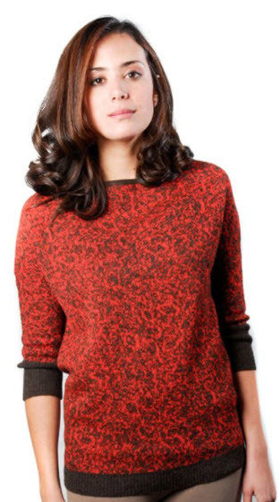 Lichen Sweater, Red - Large