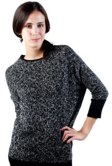 Lichen Sweater, Black - Medium