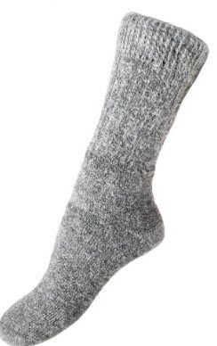 Alpaca Heavy Boot Sock - Large, gray